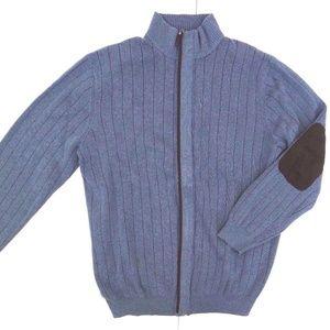 Light Blue Cardigan Hang Elbow Patch